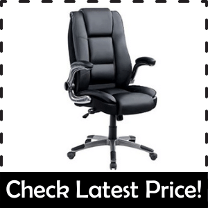 PEROINE High Back Bonded Leather Office Chair