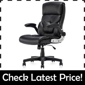 B2C2B Fabric Executive – Best cross-Legged Office Chair with Flip-Up Arms