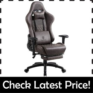 Dowinx Retro – Best Gaming Chair with Massage Option to Reduce Back Pain