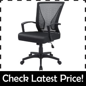 Furmax Office Mid Back Chair – Best Cross-Legged Chair with Back